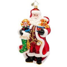 Christopher Radko a Christmas Classic Glass Santa Christmas Ornament