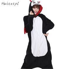 Devil Cosplay Costume Women Pajama Red Wing Tail Cartoon Onesie Party Funny Jumpsuit Costume Winter Flannel Pokemon Adult Fancy #Affiliate