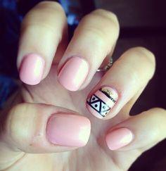 Breast cancer nails :) #breastcancer #nails