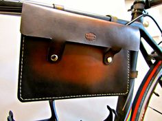 Leather Bike Frame Bag Sunburst by SanFilippoLeather on Etsy, $60.00 - I can't work out if this would be too big and annoying...