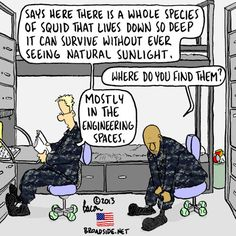 Squid in dark places Navy Marine, Navy Military, Military Life, Marine Corps, Navy Memes, Navy Humor, Navy Day, Go Navy, Military Quotes