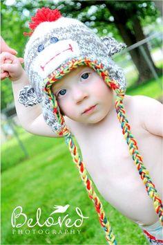 Sock Monkey Hat by flowergirlsdesigns on Etsy, $25.00