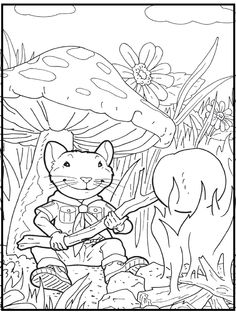 Stuart Little As Scout Coloring Picture For Kids