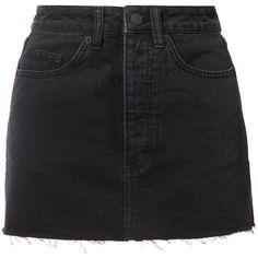Ksubi denim mini skirt (€215) ❤ liked on Polyvore featuring skirts, mini skirts, bottoms, black, mini skirt, short denim skirts, denim mini skirt, ksubi and short skirts