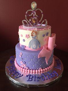 Birthday Cake Models, Sofia The First Birthday Cake, Birthday Cake Girls, Tangled Birthday, Third Birthday, Birthday Ideas, Princess Sofia Cake, Princess Sofia Birthday, Disney Princess