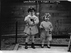 """Titanic Orphans"" - Michel, 4, and Edmond, 2, Navratil were traveling with their father, Michel, aboard Titanic. Mr. Navratil had lost custody of the boys and fled with them aboard Titanic under the alias ""Louis Hoffman."" After Titanic's collision Mr. Navratil wrapped up Michel and Edmond warmly and placed them in Collapsible D.The boys were reunited with their mother and taken back to France aboard White Star Line's Oceanic. Mr. Navratil's body was recovered in the ocean and buried in…"
