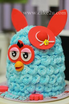 Blue Furby With Red Hat