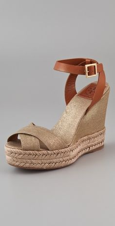 Metallic canvas espadrilles? Tory, you know me too well.