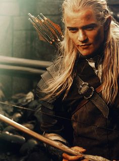 This guy will always be one of my favorite movie characters...ever. Single handedly takes out an oliphaunt... He is Legend. Legolas Greenleaf! :)