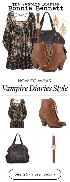 """""""The Vampire Diaries- Bonnie Bennett"""" by darcy-watson on Polyvore featuring Forever 21, Free People, J.Crew, Mojo Moxy and Aéropostale"""