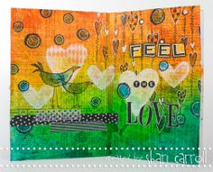 February 2013 Art Journaling Project by Shari Carroll for Simon Says Stamp.