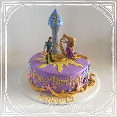 Tangled Cake #tangledcake