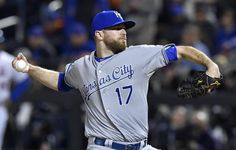 Kansas City Royals relief pitcher Wade Davis throws in the ninth inning during game four of the World Series on Saturday, October 31, 2015 at Citi Field in New York.