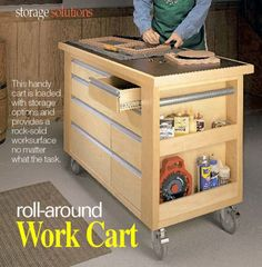 Mobile Woodworking Cart