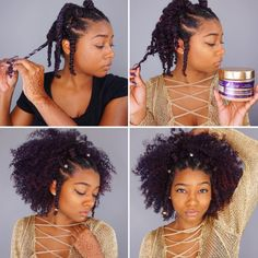 We 👀 you, DayeLaSoul! She got this beautiful twistout with The Mane Choice 24 Karat Twisting Gel—a must for delicate curls. Cute Natural Hairstyles, Protective Hairstyles For Natural Hair, Natural Hair Tips, Pretty Hairstyles, Natural Hair Styles, Twa Hairstyles, Medium Hair Styles, Curly Hair Styles, Short Styles