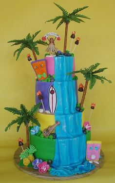 Hawaiian luau party idea to help your island theme come alive. Children's party ideas for luau birthday party invitations, decorations, party games, party food ideas, and more!