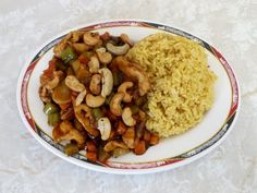 Chicken with Cashew nuts from the Mandarin Wok in Munford, TN.