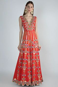 Top Fashion, Couture Fashion, Indian Fashion Designers, Indian Designer Wear, Indian Bridal Outfits, Indian Dresses, Designer Jumpsuits, Designer Party Wear Dresses, Red Jumpsuit