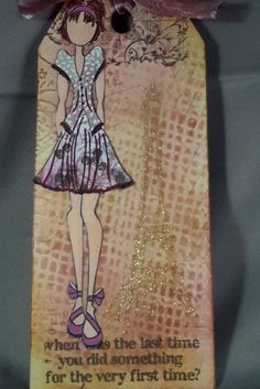 Tag/Card Phoebe  - Julie Nutting by CreativeEmbers on Etsy $12.50