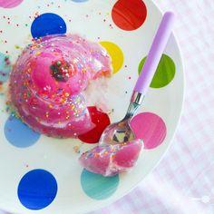 sweets : Raspberry ice cream soda jelly