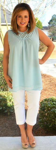 Perfectly Priscilla Boutique - Ocean Breeze Tunic, $39.00 (http://www.perfectlypriscilla.com/ocean-breeze-tunic/)