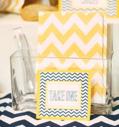 Navy & Yellow Chevron Party {Graduation + Birthday}
