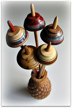Andean or Peruvian Style Bottom Whorl Drop Spindles