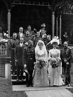 1900 Double Military Wedding