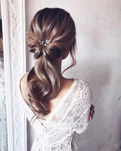 55 wedding hairstyles for the elegant bride gorgeous 2019 13 – Hair Styles Wedding Hair And Makeup, Hair Makeup, Hair Wedding, Boho Wedding, Hair For Bride, Wedding Hair Styles, Prom Makeup, Dress Wedding, Wedding Bride