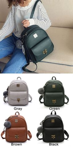 Unique Lock Button Retro Pure Color Student Bag PU Women Backpack Source by Bags backpack Cat Backpack, Satchel Backpack, Canvas Backpack, Travel Backpack, Fashion Backpack, Animal Backpacks, School Backpacks, School Bags, Leather Shoulder Bag