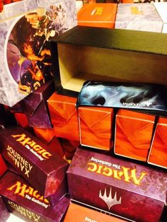 We hid our Ugin's Fate Booster Packs in empty boxes the store had been collecting. So not only did players walk away with an awesome pack of cards, they also got a box they could re-use, or store all those cards they got from winning!