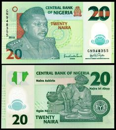 Nigeria 20 Naira General Murtala Ramat B232 (P34) History Of Nigeria, Nigerian Flag, Oil Platform, Money Notes, Map Outline, Bookmark This Page, Great Conversation Starters, Central Bank, Flag Colors