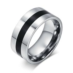 Cheap finger ring, Buy Quality stainless steel ring directly from China steel ring Suppliers: Effie Queen Fashion Men's Titanium Steel Finger Rings Punk Rock Style Men Party Jewelry Stainless Steel Rings Punk Rock, Black Enamel, Black Silver, Silver Color, Black 13, Color Black, Ringe Gold, Mens Stainless Steel Rings, Men Rings