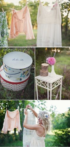 Lemon and Lavender: Vintage Laundry Shoot by Amanda Eaton .. such a fun idea