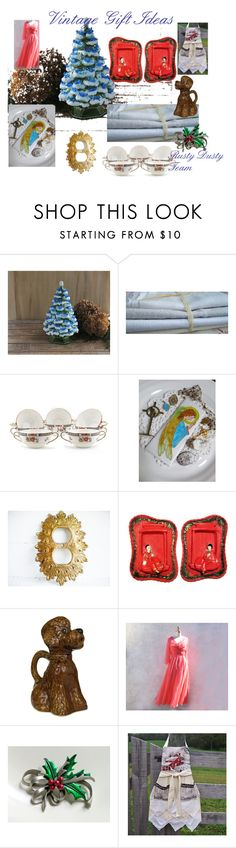 Vintage Gift Ideas by plumsandhoneyvintage on Polyvore featuring interior, interiors, interior design, home, home decor, interior decorating, Noritake, vintage, giftguide and etsy
