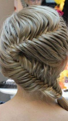 Love doing this on my best friends hair. When you look up tutorials for this it's actually quite simple!