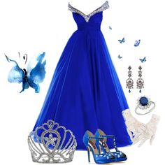 A fashion look from May 2013 featuring TIARA, platform sandals and mint jewelry. Browse and shop related looks. Girly Outfits, Stylish Outfits, Dress Outfits, Prom Dresses, Formal Dresses, Royal Blue Bridesmaids, Fashion Ideas, Ideias Fashion, Fashion Looks