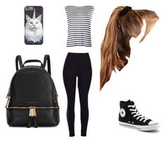 """""""Untitled #10"""" by abbyballistic ❤ liked on Polyvore featuring T By Alexander Wang, Converse, Michael Kors and ASOS"""