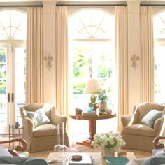 drapes for tall windows | Awesome, love the tall windows and drapes