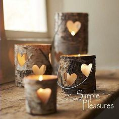 Candles are infallible piece of home decoration. It gives your home lovely romantic look, and kinda heartwarming feeling! There is always option to buy some cool designs of candle holders, but you can be a little creative and handy, and make you Creative Crafts, Diy Crafts, Creative Ideas, Tree Crafts, Homemade Crafts, Craft Projects, Projects To Try, Craft Ideas, Decorating Ideas