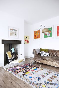 my scandinavian home: Tamsin Flower's cheerful London home