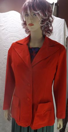 Vintage Womens Red Blazer by Country Miss by JandDsAtticTreasures, $12.00