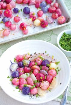 Elegant Recipes to Make for Easter Brunch  PHOTO: The Primalist Pastel vegetables are a shoo-in for an Easter feast, and these roasted radishes are particularly cheerful and bright for the holiday. Radishes are often eaten raw, but when roasted they lose some of their bite (something which turns some people off). Better yet, they'll pair with practically anything else you're serving.