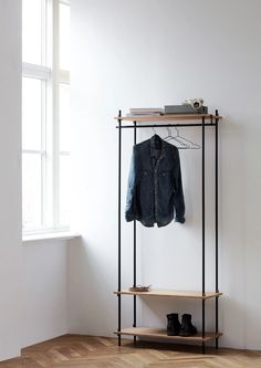 Wardrobe Shelving, Wardrobe Rack, A Shelf, Shelves, Hallway Inspiration, Hanger Rack, Shelving Systems, Recycling Bins, Danish Design