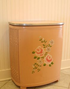 Pink Vintage Hamper with flowers