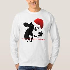 Christmas Men's T-Shirt Santa Cow - click to get yours right now!