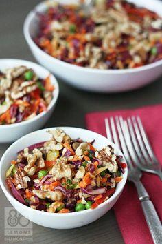 Raw vegan coleslaw