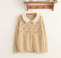 Nice Hollow Out Lace Loose Sweater Cardigan