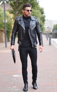Black leather jacket Más Fashion leather articles at 60 % wholesale discount prices #leather #leatherjacket #leatherfashion