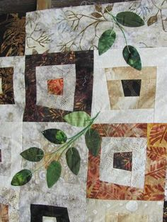 I love this new quilt trend of taking a block and breaking it up with something unexpected. an applique all over or just one big one or maybe a totally different block.  Very cool.